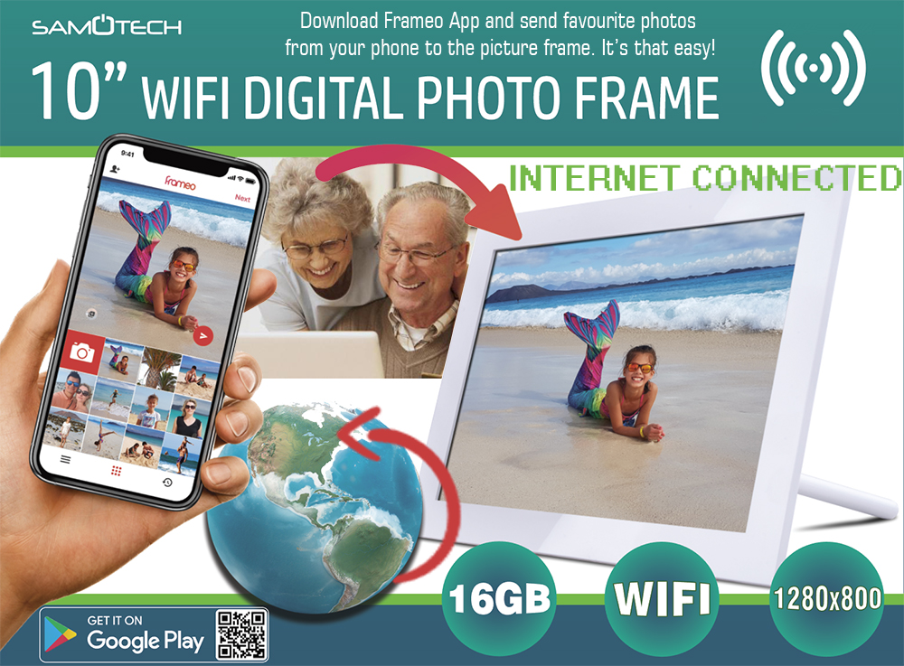 SM307 WiFi Digital Photo Frame